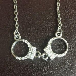 Handcuff Rhinestone Necklace